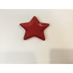 Prato estrela vermelho...