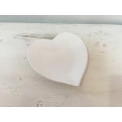 Prato branco coração (aluguer)