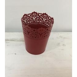 Vaso metal vermelho (aluguer)