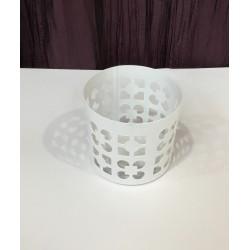 Vaso metal branco (aluguer)