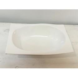 Taça branca oval (aluguer)