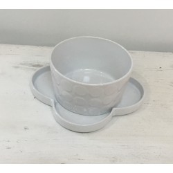 Taça com prato branca...