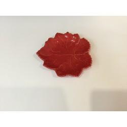 Prato folha vermelho (aluguer)