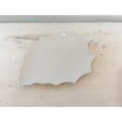 Prato folha branco (aluguer)