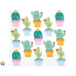 20 guardanapos 33x33 cm cactus