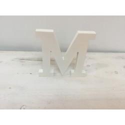 Letra M madeira branca...