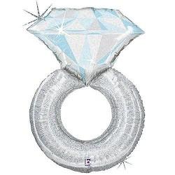 Balão Foil 38'/97cm anel prata