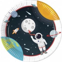 8 Pratos 23 cm Outer Space