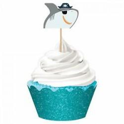 kit Cupcake AHOY Tubarão