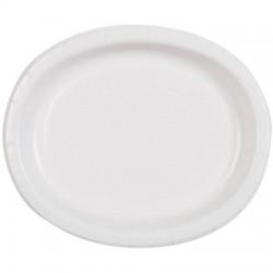 8 pratos ovais brancos...