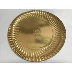 Prato Dourado Nº 7 32 cm