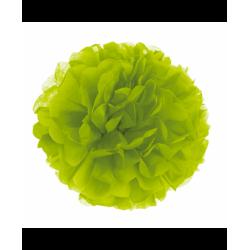papel pompom verde lima 30 cm