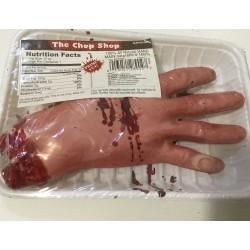 Mão ensanguentada