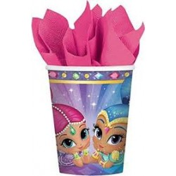 8 copos Shimmer and Shine