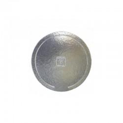 Prato redondo 22cm prata