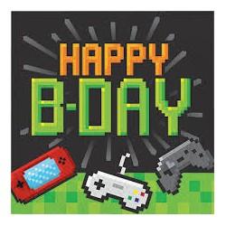 16 Guardanapos Gaming Party...