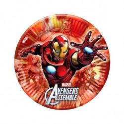 8 Pratos 23 cm Avengers