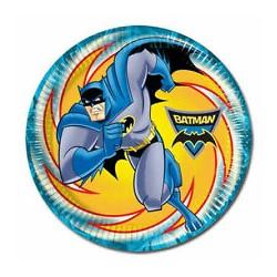 8 Pratos Batman 23cm