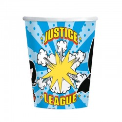 8 copos 250 ml Liga da Justiça