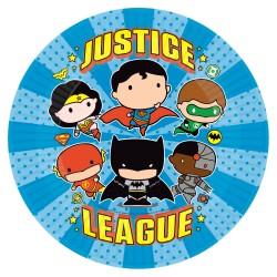 8 Pratos 23 cm Liga da Justiça
