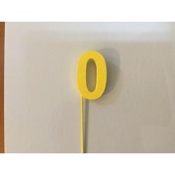 Número 0 esferovite amarelo...