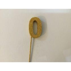 Número 0 esferovite ouro 8 cm
