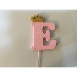 Letra E 10 cm esferovite...