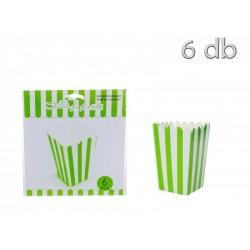 Caixas Pipocas Verde Riscas...