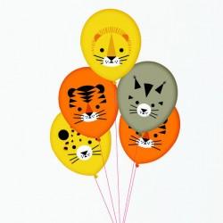 5 balões impressos mini...