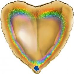 Balão Coração Dourado...