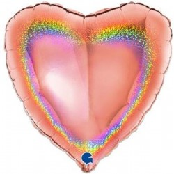 Balão Coração Rosa Gold...