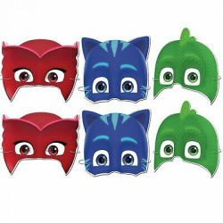 6 Máscaras Pj Masks