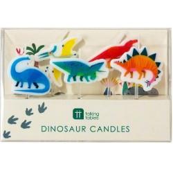 5 velas dinossauros