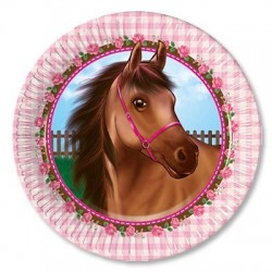 8 Pratos 20cm Lovely Horse