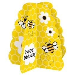 Centro mesa 3D abelhas
