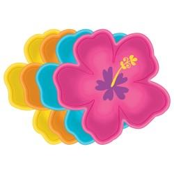 8 pratos Hibiscus