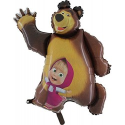 balão foil masha e urso