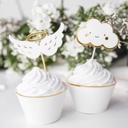 6 cupcake topper nuvens...