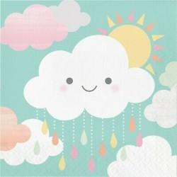 16 guardanapos nuvem baby...