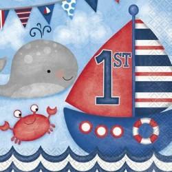 16 Guardanapos Nautical