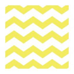 16 guardanapos chevron amarelo