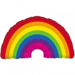 Balão super shape 36 arco-íris