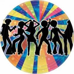 8 Pratos 17,7 cm Disco Dancer