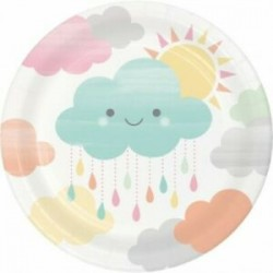 8 Pratos 18 cm Nuvem Baby...