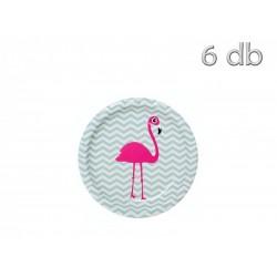 Pratos Flamingo 6 uni 18cm