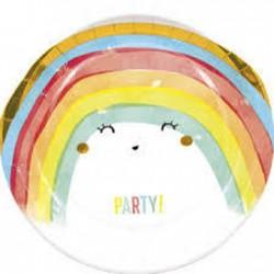 8 pratos 23 cm - Rainbow