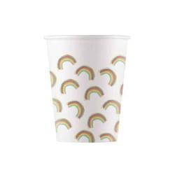 8 copos papel 200 ml - Rainbow