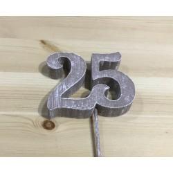 Número 25 Esferovite Prata...