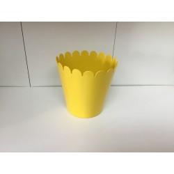 Vaso metal pequeno amarelo...