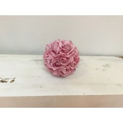 Pompons de rosas rosa m...